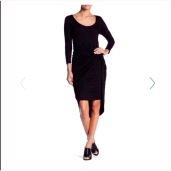 Dresses & Skirts - 3/4 length sleeve knot dress black